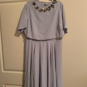 Blue ASOS Midi Dress